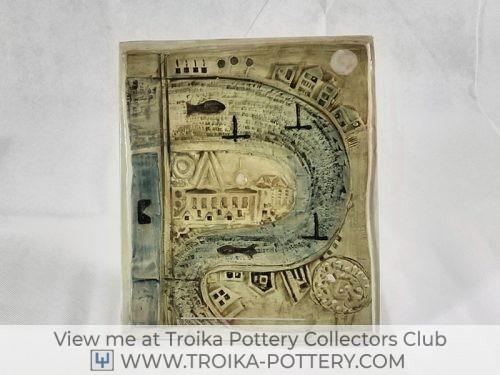 Troika Pottery Thames Plaque