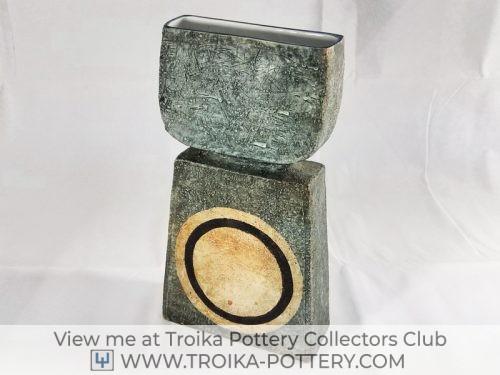 Troika Pottery Double Base Vase