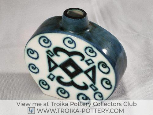 Troika Pottery Scarab Flask