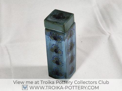 Blue Lidded Vessel Vase