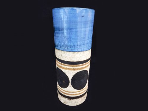 Small Textured 14cm Cylinder Vase (Pencil Jar) Brick Vase