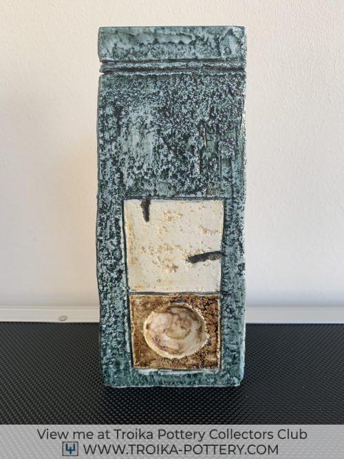Rhombus Troika Pottery Coffin Vase