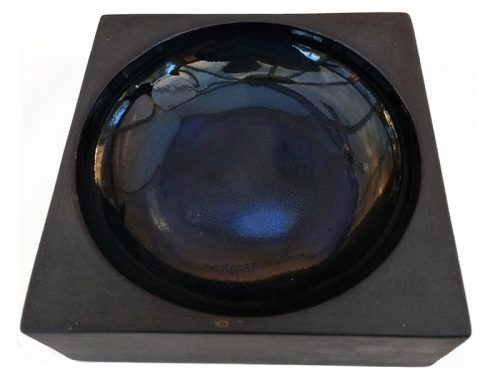 12cm Square Ashtray with Circular Hollow