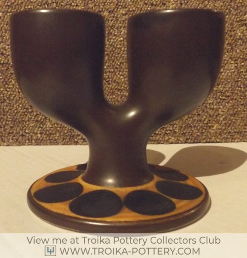 Brown Troika Double Egg Cup